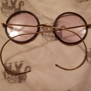 superior optical company Accessories - Antique wire rimmed glasses
